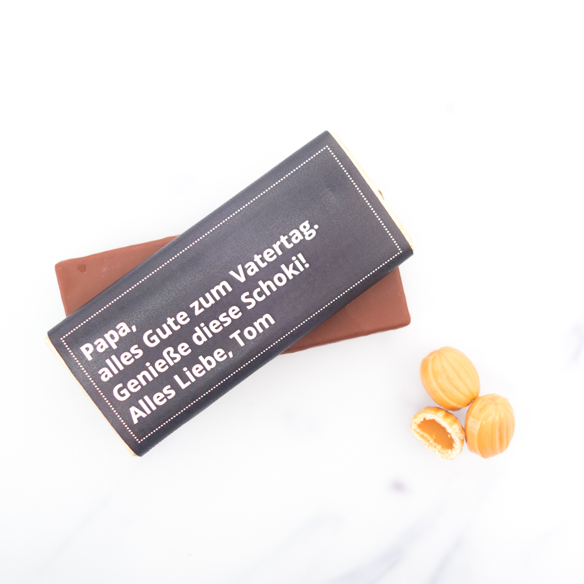 vatertagsgeschenk personalisierbare schokolade