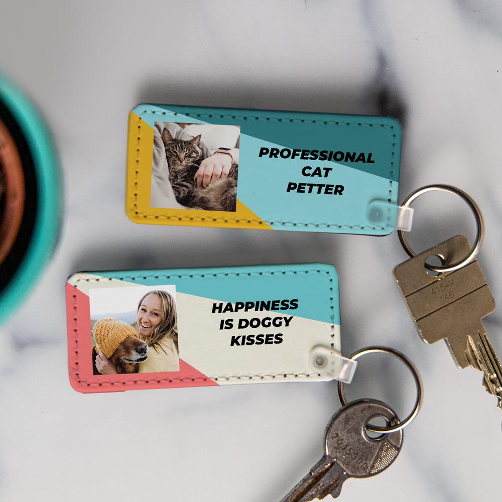 tiergeschenke personalisierbarer Schlüsselanhänger mit Foto