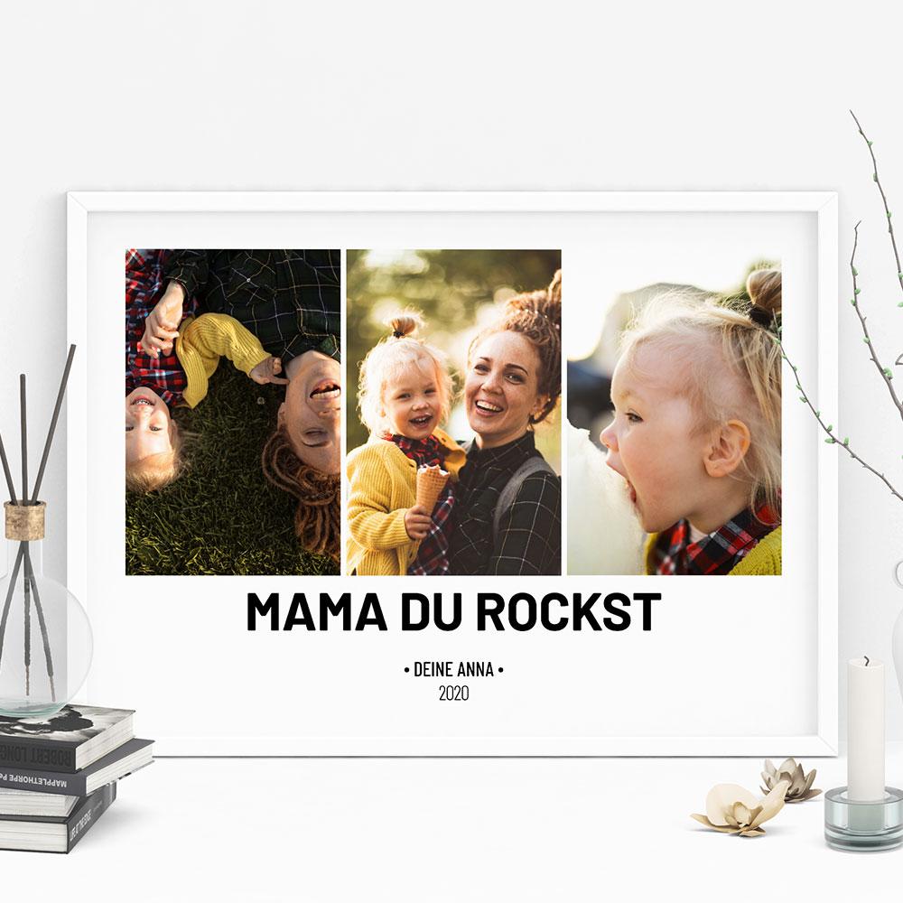 geschenke für mama personalisierbares poster mit fotos