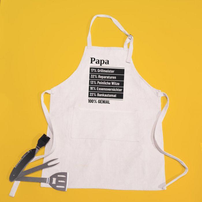 Personalisierbare Schürze für Papa