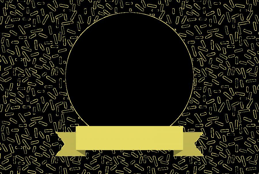 Napfunterlage mit Bild und Text (NUBTXT) - Gelb